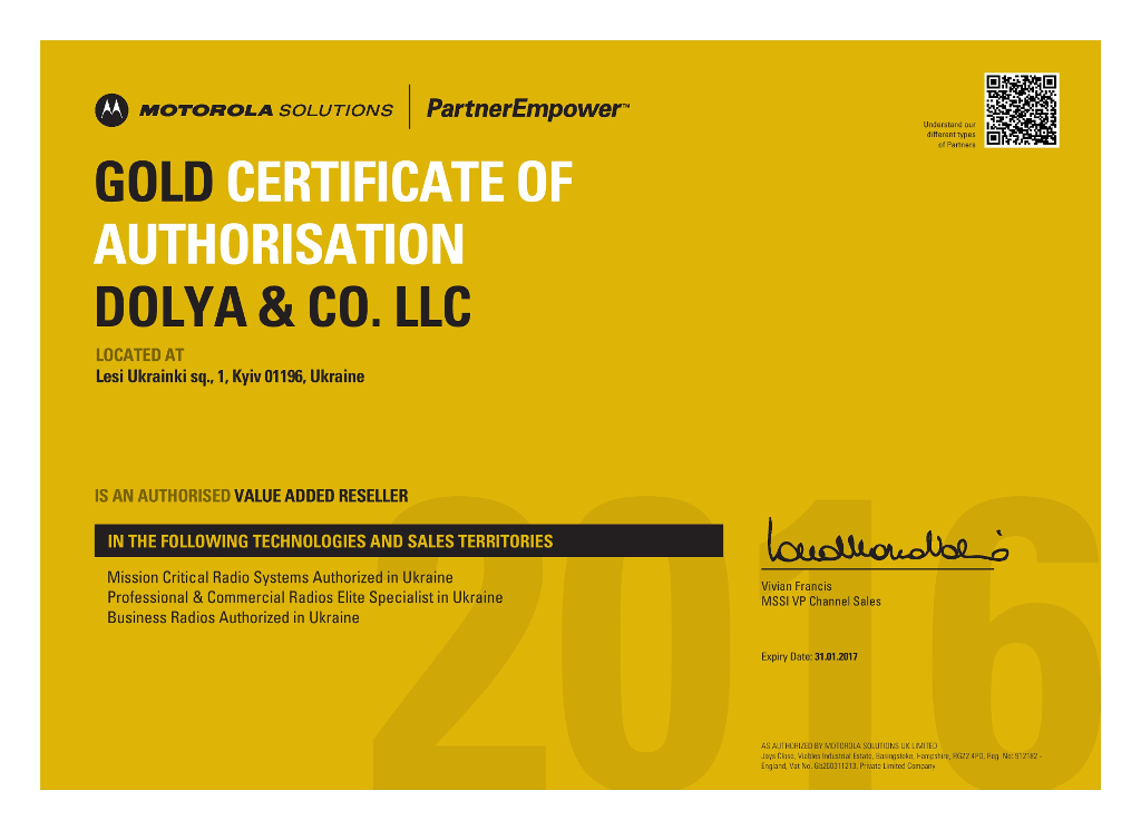 Dolya & CO  LLC is an authorized value added reseller